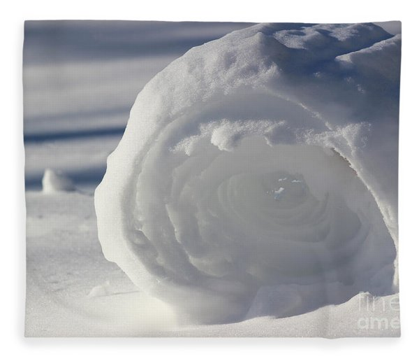 Snow Roller In Late Afternoon Fleece Blanket