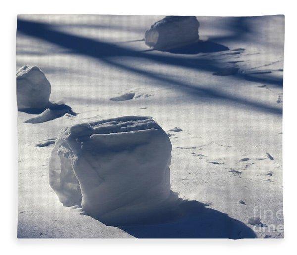 Snow Roller Trio In Shadows Fleece Blanket