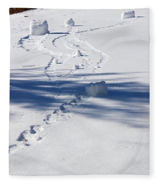 Snow Rollers Fleece Blanket