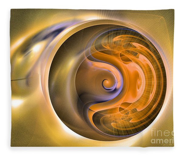 Fleece Blanket featuring the digital art Soul Watch - Abstract Art by Sipo Liimatainen