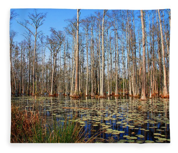 South Carolina Swamps Fleece Blanket
