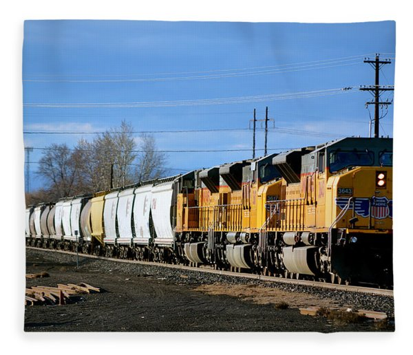 Southern Pacific Loading Up Fleece Blanket