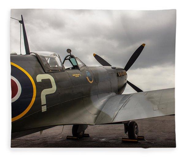 Spitfire On Display Fleece Blanket