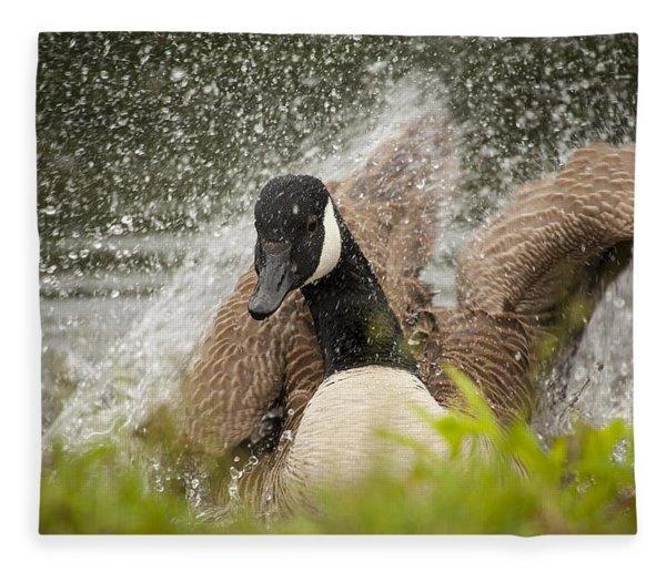 Splishing And Splashing Fleece Blanket