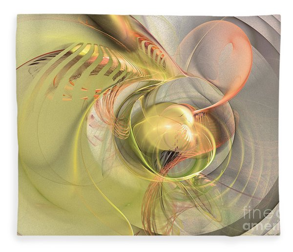 Fleece Blanket featuring the digital art Sprouting Up - Abstract Art by Sipo Liimatainen