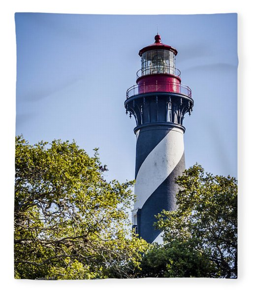 Fleece Blanket featuring the photograph St. Augustine Lighthouse by Carolyn Marshall