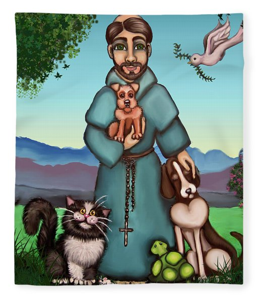 St. Francis Libertys Blessing Fleece Blanket
