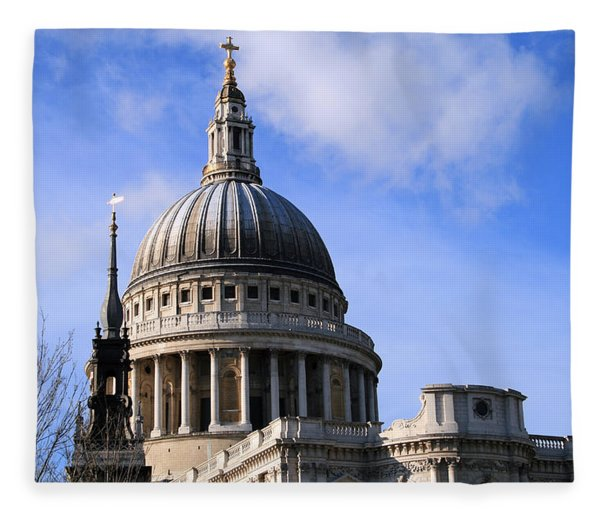 St Pauls Cathedral Fleece Blanket