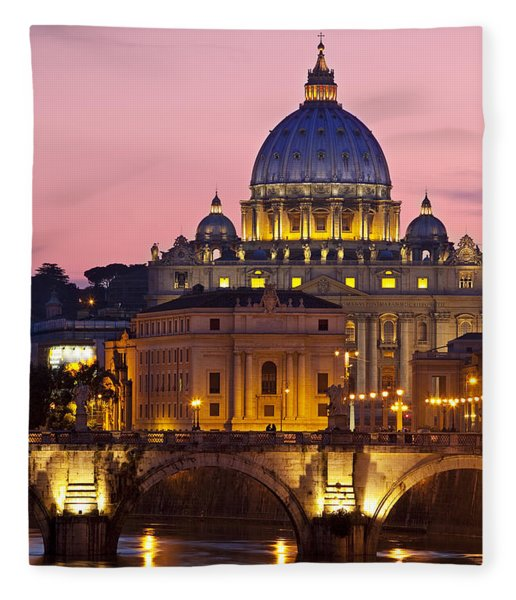 Fleece Blanket featuring the photograph St Peters Basilica by Brian Jannsen