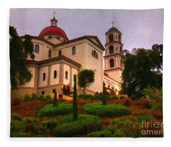 St. Thomas Aquinas Church Large Canvas Art, Canvas Print, Large Art, Large Wall Decor, Home Decor Fleece Blanket