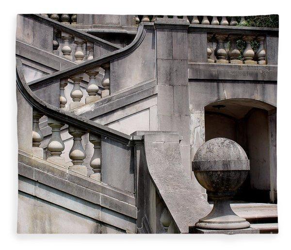 Stairway At Winterthur Fleece Blanket