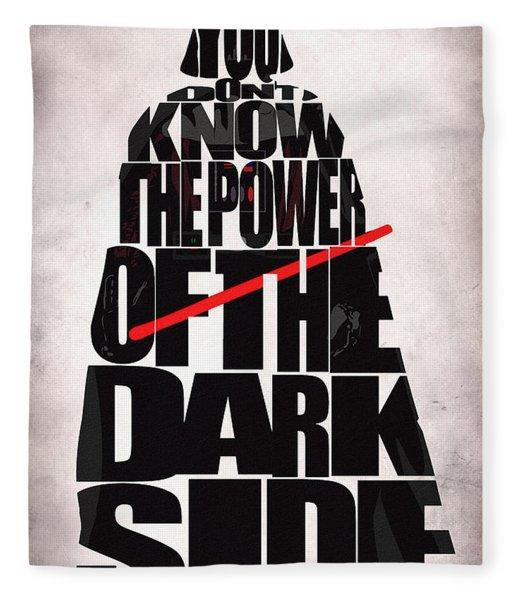 Star Wars Inspired Darth Vader Artwork Fleece Blanket