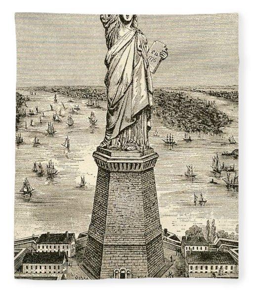 Statue Of Liberty, New York Fleece Blanket
