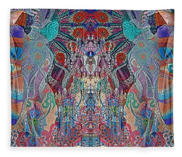 Mirrored Statues  Fleece Blanket