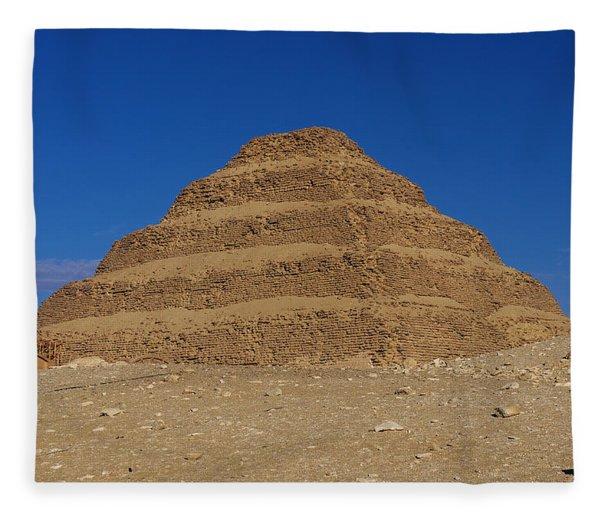 Step Pyramid Of King Djoser At Saqqara  Fleece Blanket