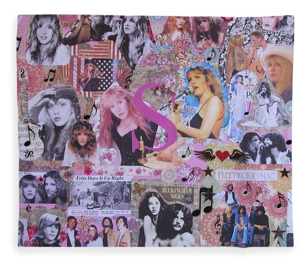 Stevie Nicks Art Collage Fleece Blanket