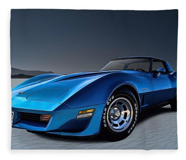 Stingray Blues Fleece Blanket