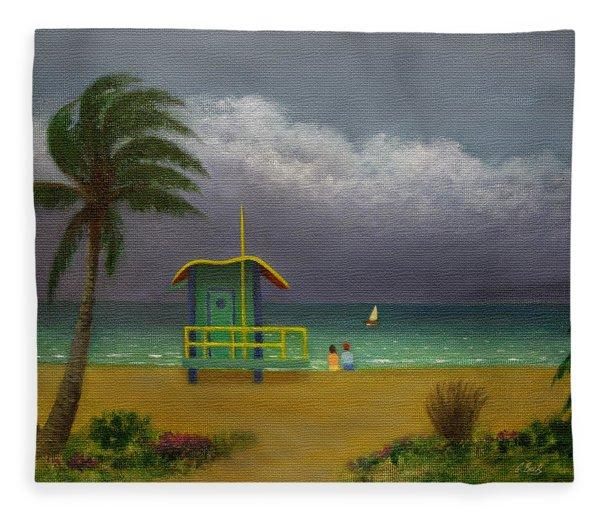 Storm Watchers Fleece Blanket