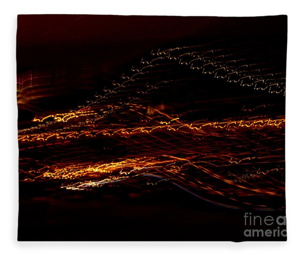 Streaks Across The Bridge Fleece Blanket