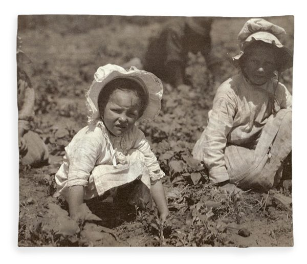 Sugar Beet Workers, 1915 Fleece Blanket