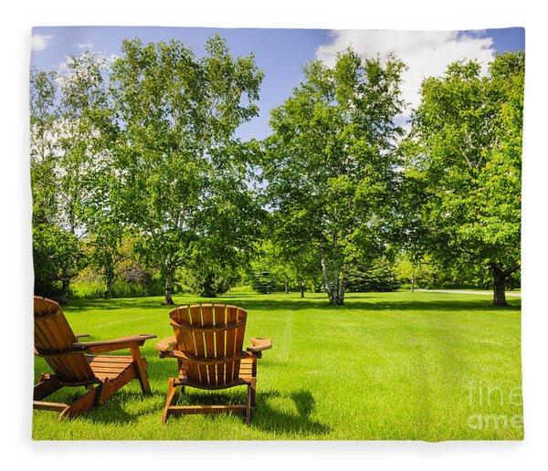 Summer Relaxing Fleece Blanket
