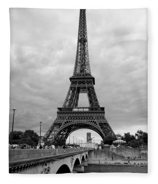 Summer Storm Over The Eiffel Tower Fleece Blanket