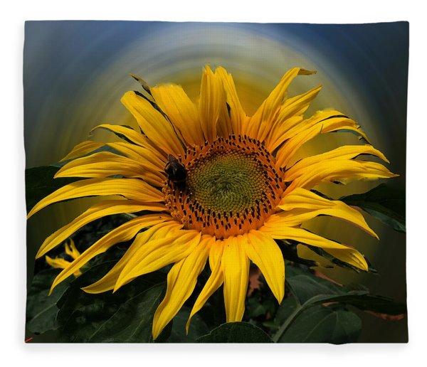 Fleece Blanket featuring the photograph Sun Flower Summer 2014 by Colette V Hera  Guggenheim