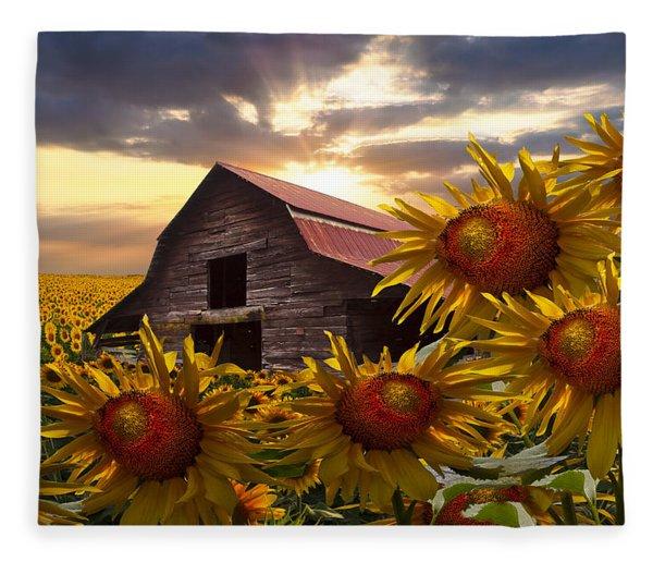 Sunflower Dance Fleece Blanket