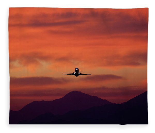 Sunrise Takeoff Fleece Blanket