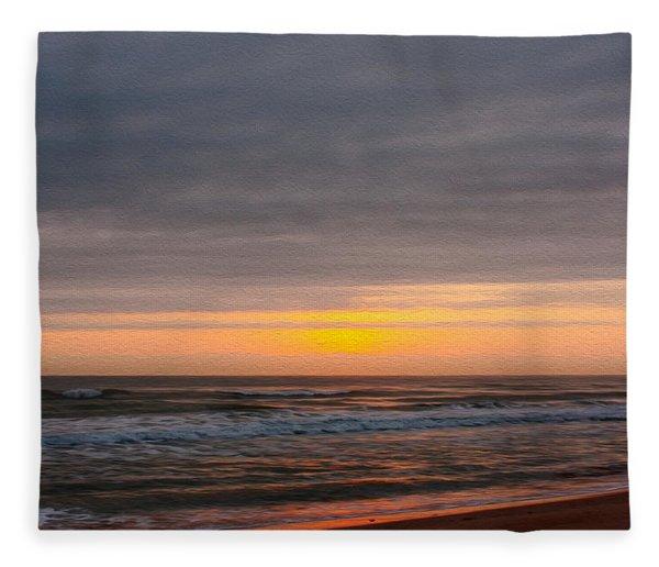 Sunrise Under The Clouds Fleece Blanket