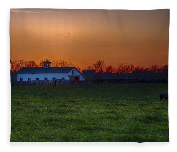 Walmac Farm Ky  Fleece Blanket