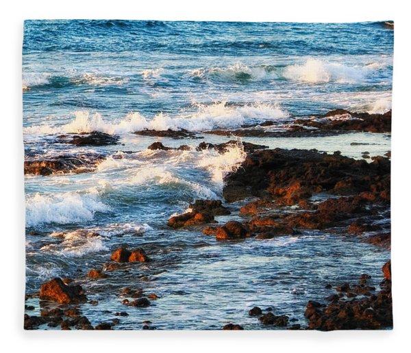 Sunset Shore Fleece Blanket
