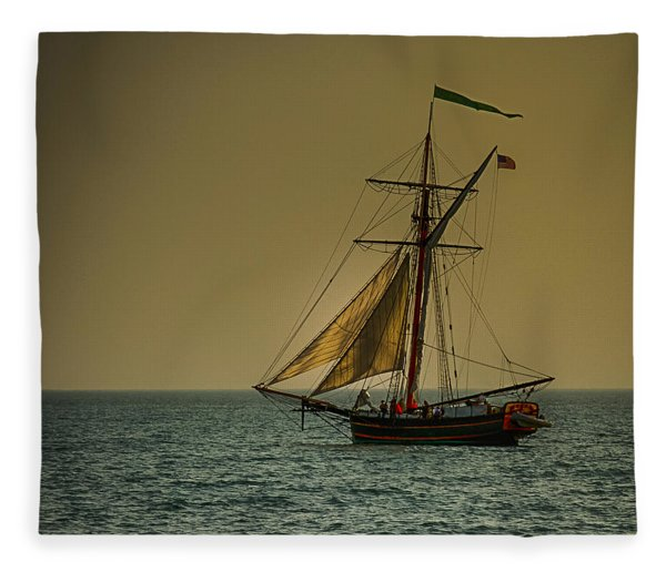 Sunset Voyage Fleece Blanket