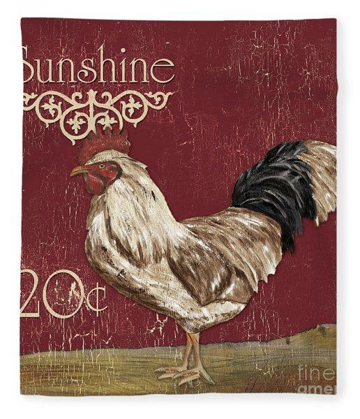 Sunshine Rooster Fleece Blanket