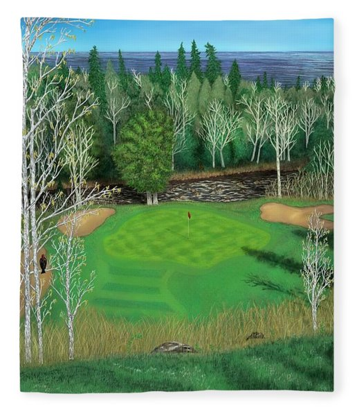 Superior National Golf Canyon 8 Fleece Blanket