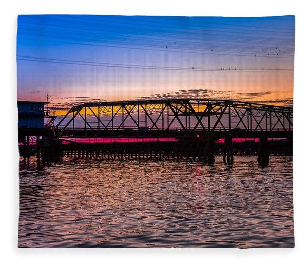 Surf City Swing Bridge Fleece Blanket