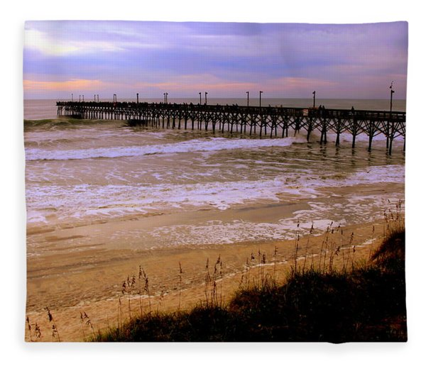 Surf City Pier Fleece Blanket