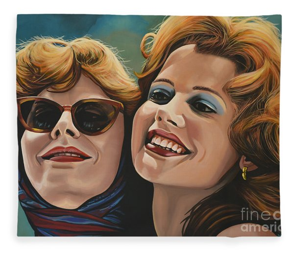 Susan Sarandon And Geena Davies Alias Thelma And Louise Fleece Blanket