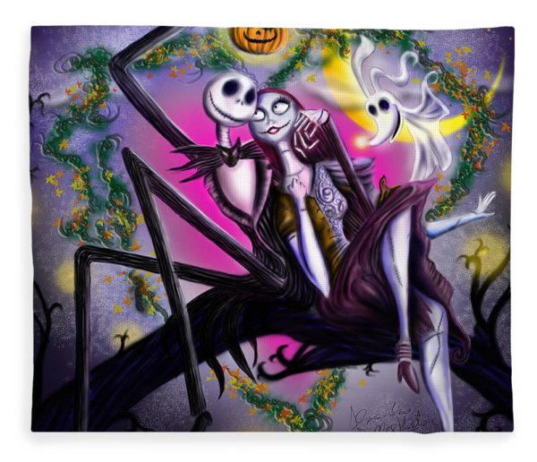 Sweet Loving Dreams In Halloween Night Fleece Blanket
