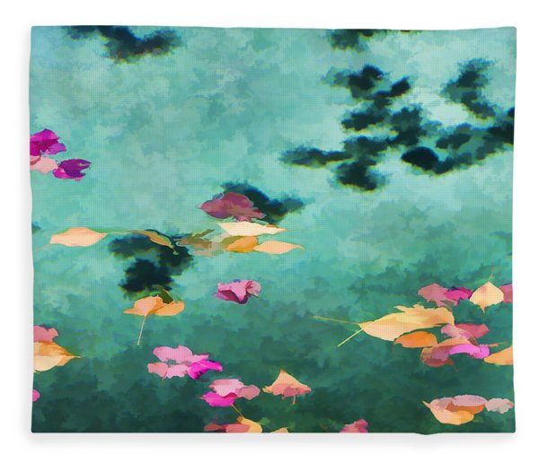 Swirling Leaves And Petals 6 Fleece Blanket
