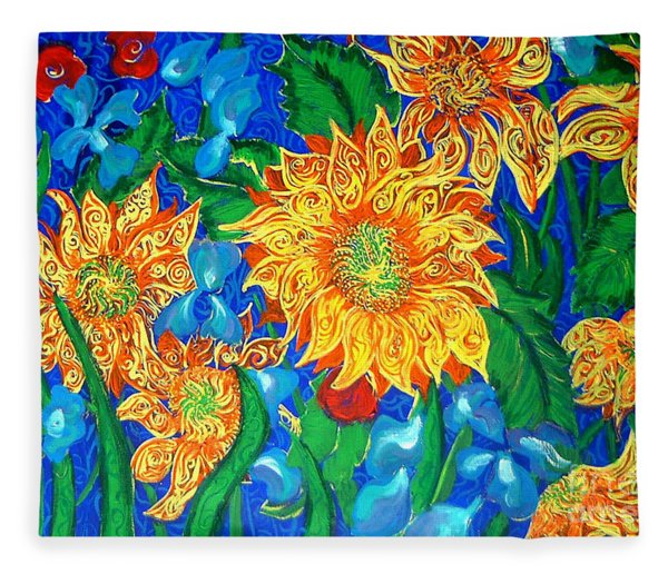 Symphony Of Sunflowers Fleece Blanket
