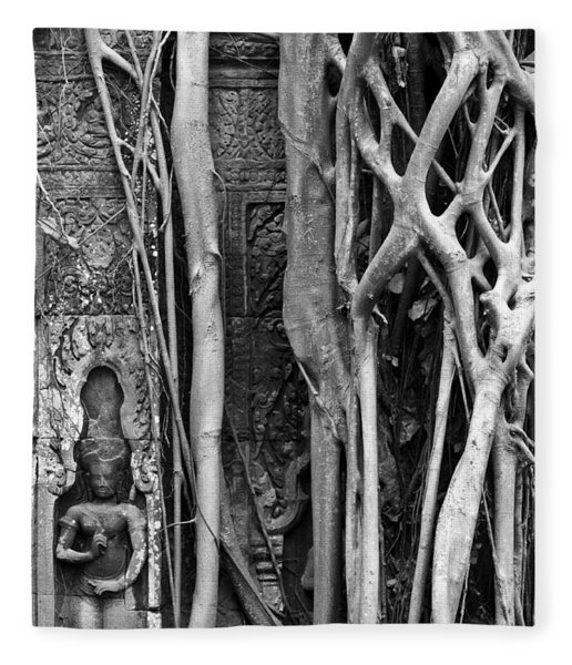 Ta Prohm Roots And Stone 09 Fleece Blanket