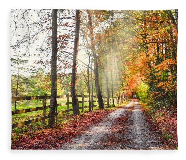 Take The Back Roads Fleece Blanket