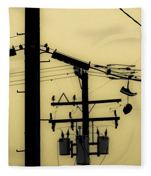 Telephone Pole And Sneakers 5 Fleece Blanket
