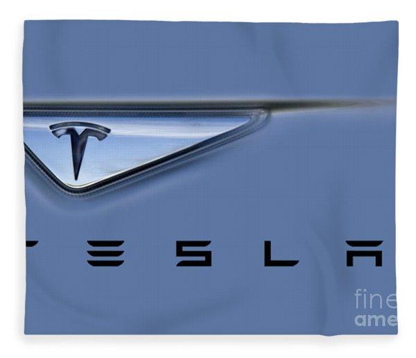 Tesla Artwork Fleece Blanket
