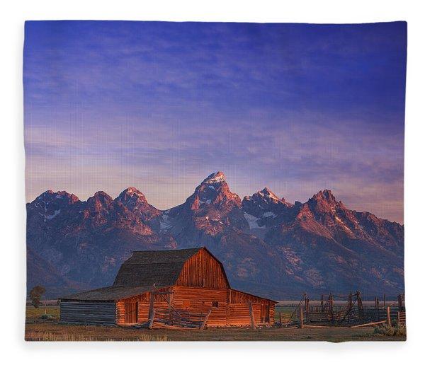 Teton Sunrise Fleece Blanket
