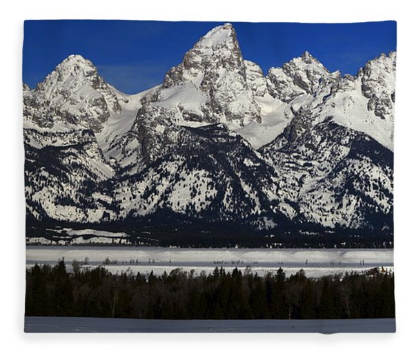 Fleece Blanket featuring the photograph Tetons From Glacier View Overlook by Raymond Salani III