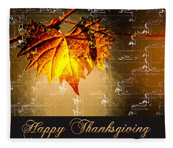 Fleece Blanket featuring the photograph Thanksgiving Card by Carolyn Marshall