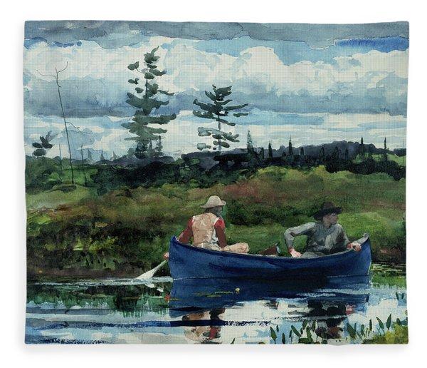 The Blue Boat Fleece Blanket