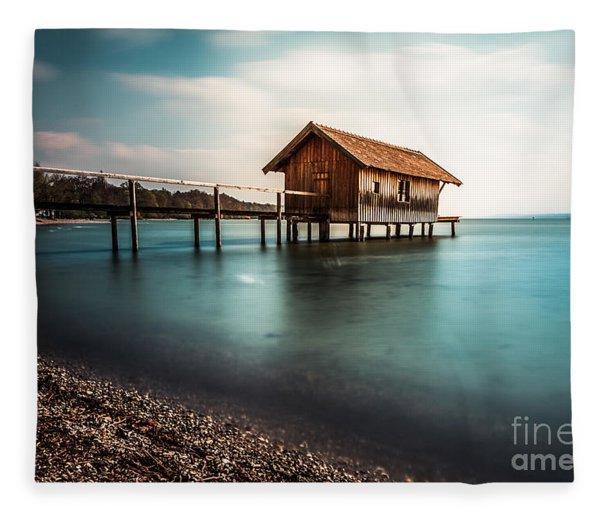 The Boats House II Fleece Blanket